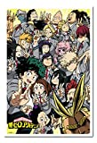 My Hero Academia School Compilation Poster Magnetic Notice Board White Framed - 96.5 x 66 cms (Approx 38 x 26 inches)
