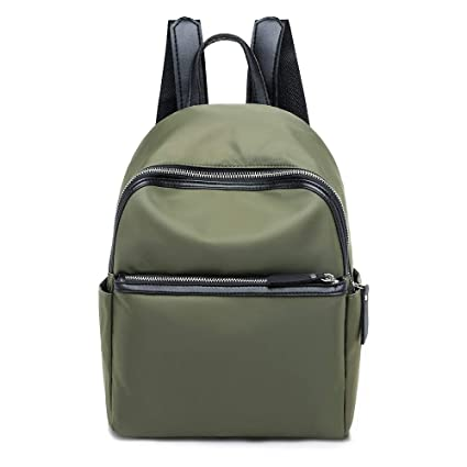 Cinhent Backpacks Women s Fashion Oval Soft Backpack Handbag Shoulder Tote  Packet (Army Green) 561877f6c408a
