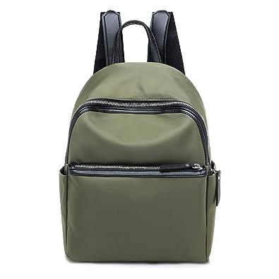 d55fe96f6d70 Fashion Casual Soft Nylon Womens Backpack Handbag Shoulder Bag Tote  Interior Compartment Bag Packet