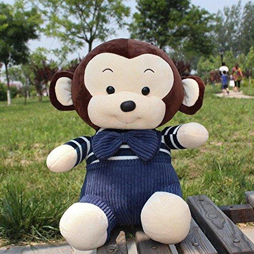 30cm Lovely Brown Belt Monkey Plush Toy Stuffed Animal Plush Doll Children's (Toopy And Binoo Halloween)