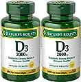 Nature's Bounty Vitamin D-3, 2000 Iu, 480 Softgels (2 X 240 Count Bottles)