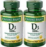 Cheap Nature's Bounty Vitamin D-3, 2000 Iu, 480 Softgels (2 X 240 Count Bottles)