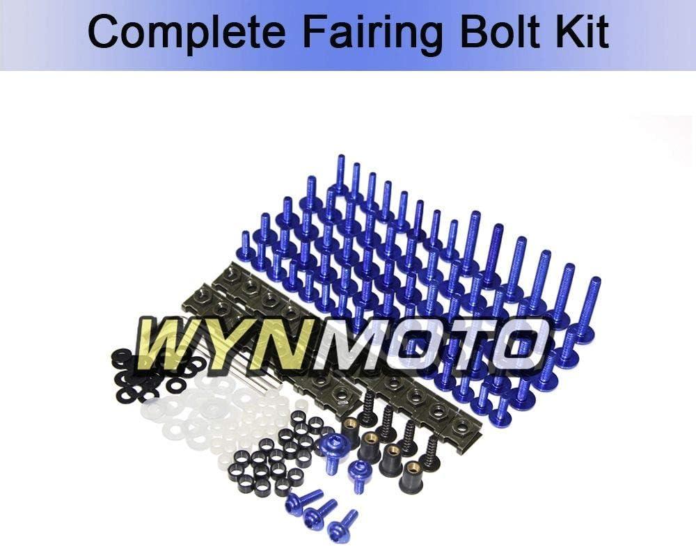 Blue WYNMOTO US Stock Full Motorcycle Fairing Bolt Kit For Honda CBR1000RR 2006 2007 New Body Screws Aluminum Fasteners Hardware Clips
