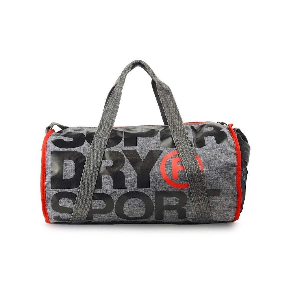 SUPERDRY XL Sports Barrel Bag Grey Marl Duffel bag, Gym bag, Travel bag, MS4001MR-07Q by Superdry (Image #3)