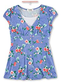 8f32ec9797 Speechless Girls  Big Floral Button Front Yummy Top