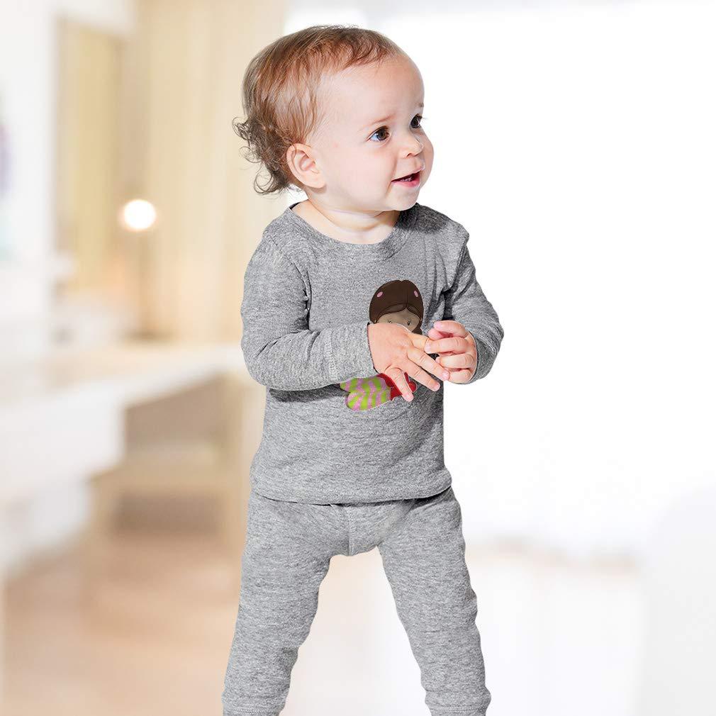 Girl Pajama Gift B Cotton Crewneck Boys-Girls Sleepwear Pajama 2 Pcs Set
