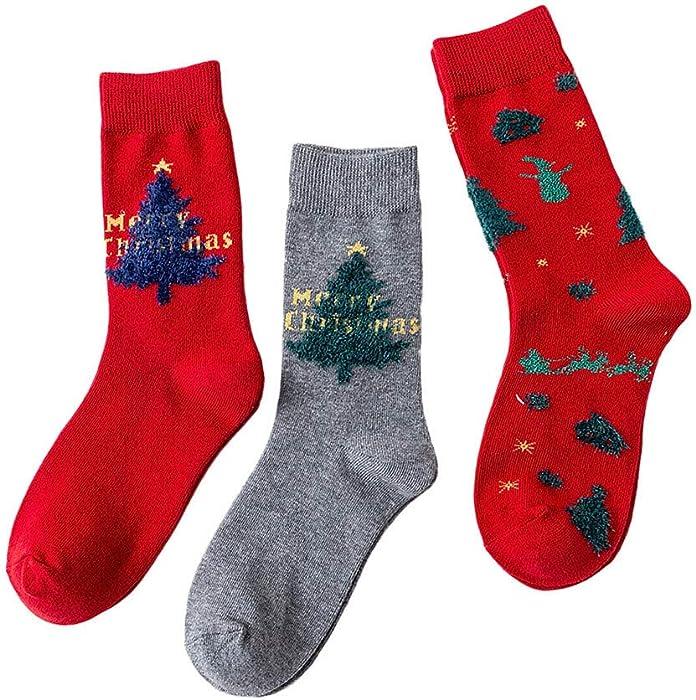 Goosuny 3 Paar Weihnachtssocken Für Damen Christmas Socks ...