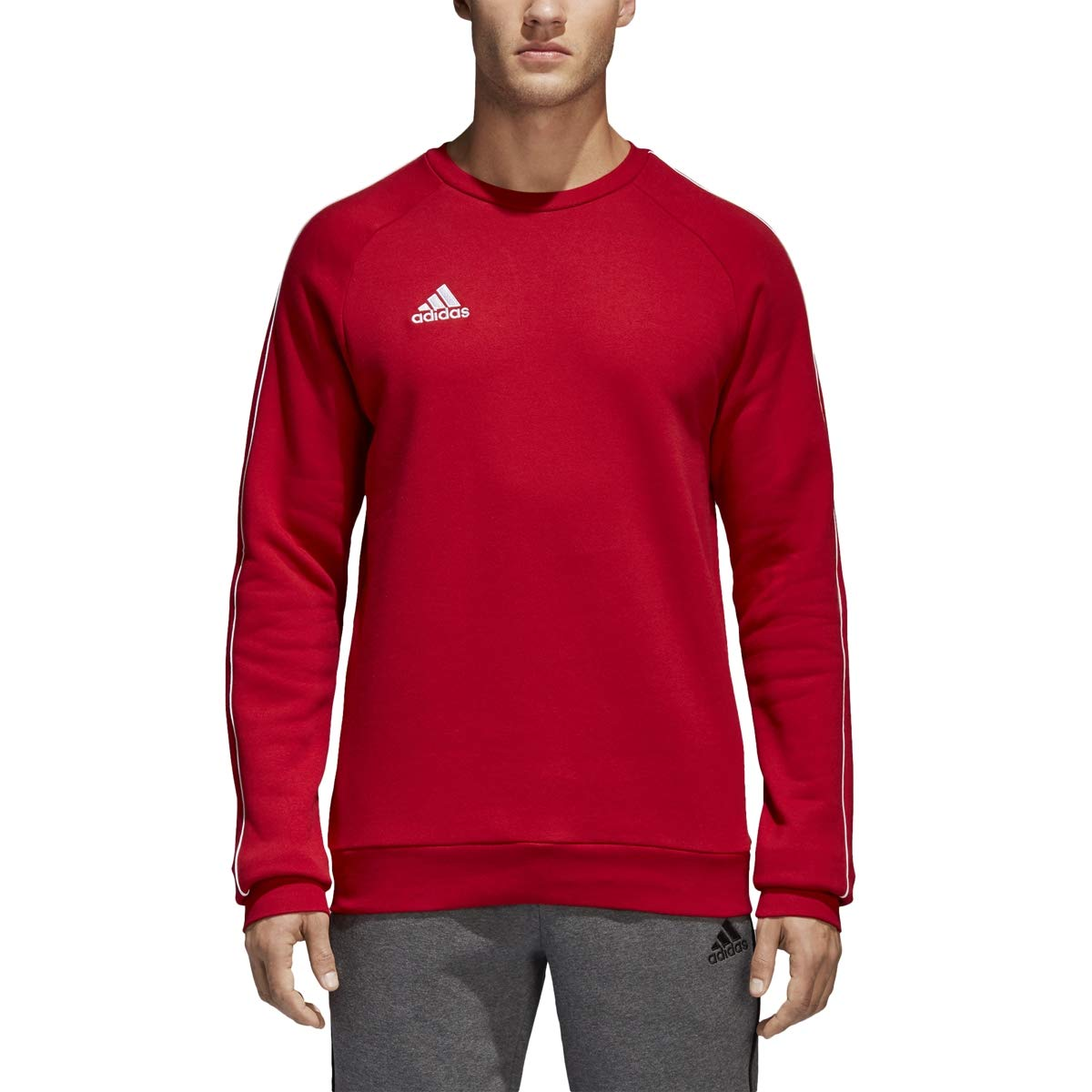 adidas Men's Core 18 Soccer Sweatshirt, Power Red/White, 3X-Large by adidas