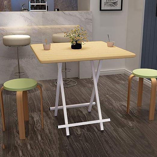 ACZZ Square Home 3 Size Mesa de comedor fácil de plegar Mesa ...
