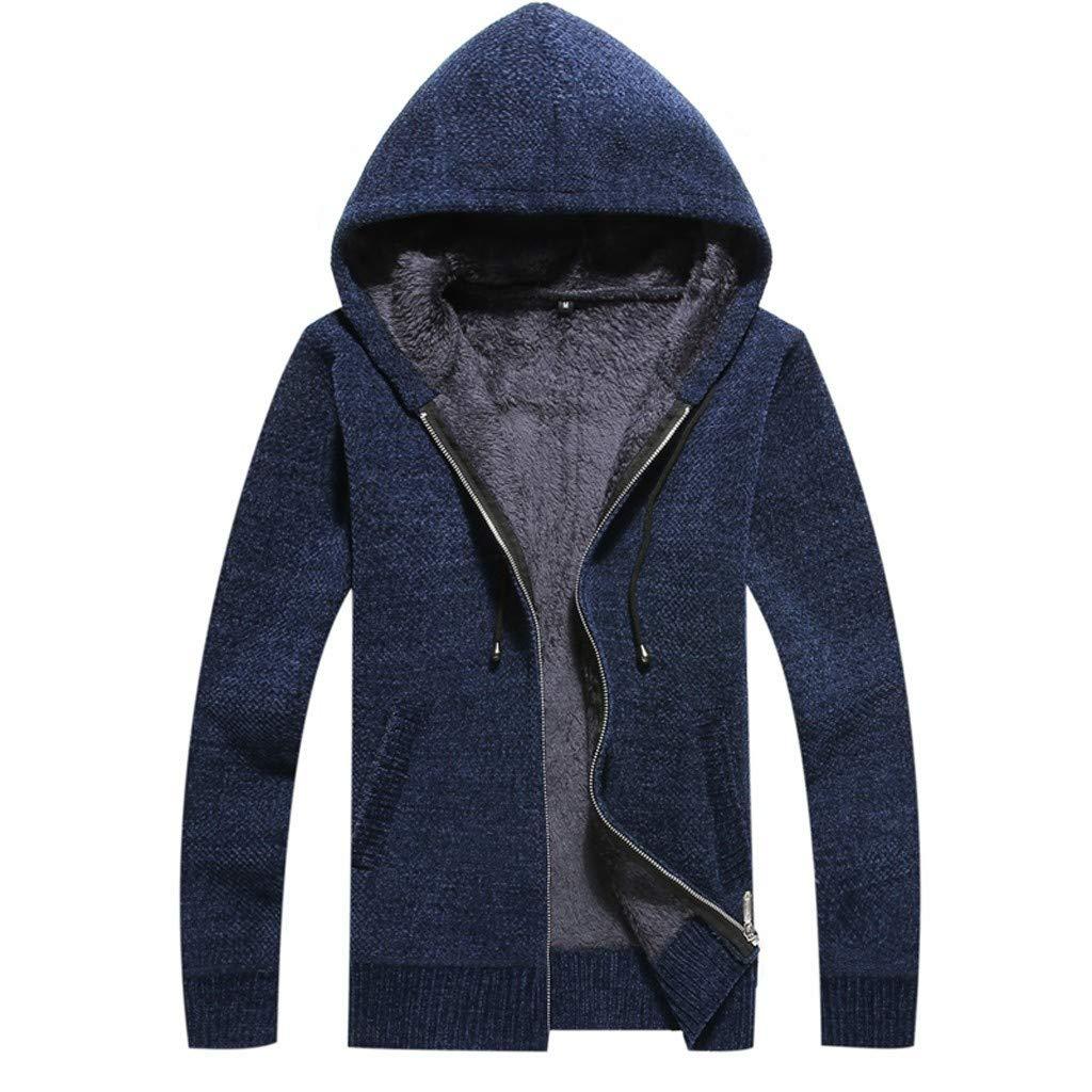 Cardigan Giacca Uomo Invernale Manica Lunga Maglione Pullover Maglieria da Uomo con Collo a V Cappotto Uomo Maglia con Zip per Inverno