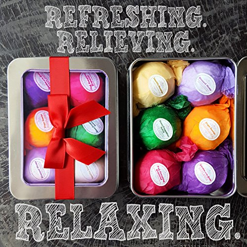 Bath bomb gift set kit 6 vegan all natural essential oil - Bombe da bagno lush amazon ...