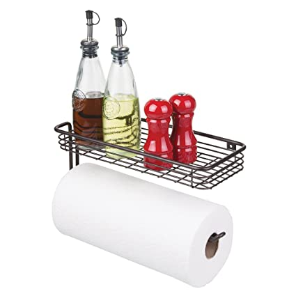 Amazoncom Mdesign Paper Towel Holder With Spice Rack And Multi