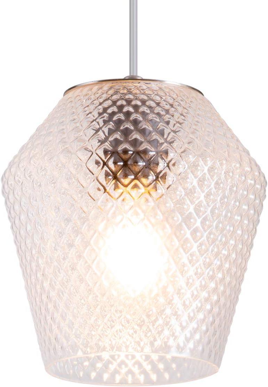 TeHenoo Modern Pendant Lighting Contemporary Vase Shade Ceiling Hanging Light Fixture for Living Room, Bedroom, Kitchen,Nickel