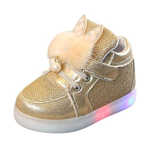 unos dias zapatos exclusivos calidad estable Zapatos de bebé con Luces Deportivas LED Lentejuelas de ...