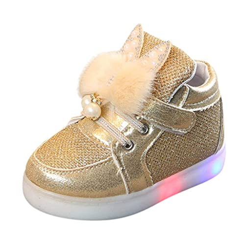 d2738cf8f Zapatos de bebé con Luces Deportivas LED 🎀 Lentejuelas de Conejo Zapatos  de Pelusa para niños