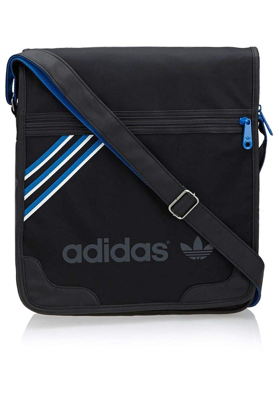 112b7fba56c adidas M30479 Messenger Bag Black / Dgh Solid Grey / Bluebird 34 x 31 x 7  cm: Amazon.co.uk: Sports & Outdoors