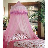 Goplus Princess Bed Canopy Mosquito Netting Dome with...