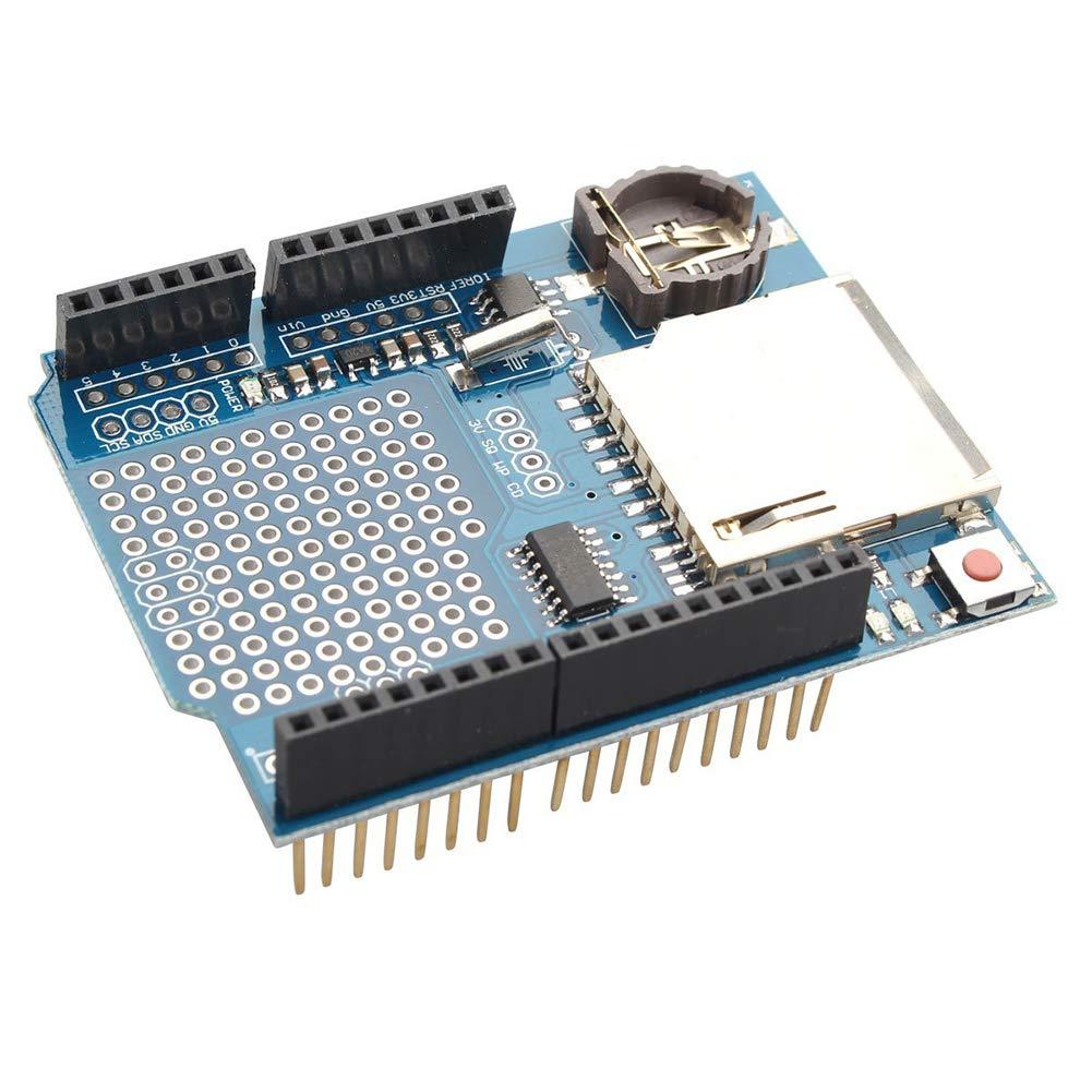 XuBa Professional Enregistreur de donné es Module de la Consignation Shield Enregistreur de donné es DS1307 pour Arduino UNO Carte SD