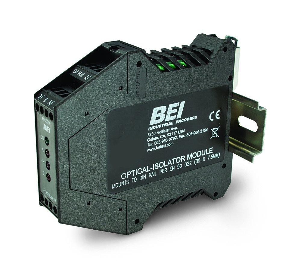 BEI Sensors 60001-003 Electronic Module, EM-DR1-IC-5-TB-28V/V, Optical Isolator, Isolator Circuit, 3.7-6.8V Logic, Terminal Block, 28V Maximum, Vout = Vin