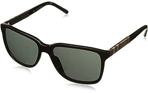 e7a409a9fac5 Burberry Men s BE3074-100387-63 Silver Rectangle Sunglasses ...