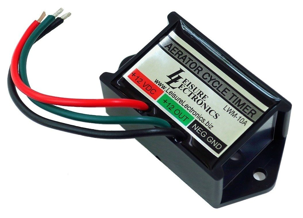leisure lectronics automatic livewell timer aerator pump 12v module for boat livewell aerator switch timer