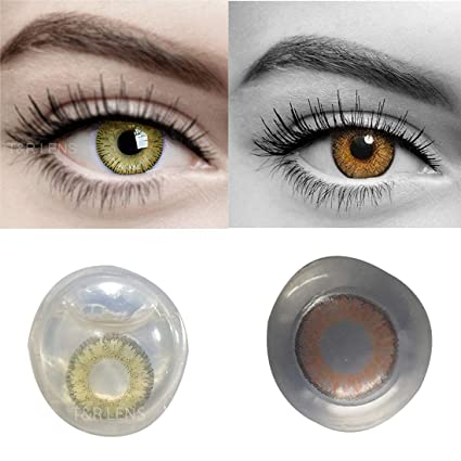 10d2e37fa01f Buy Eyeshine Hazel   Honey Colored Contact Lens 2 Pair Monthly Disposable  With Case And Solution Online at Low Prices in India - Amazon.in