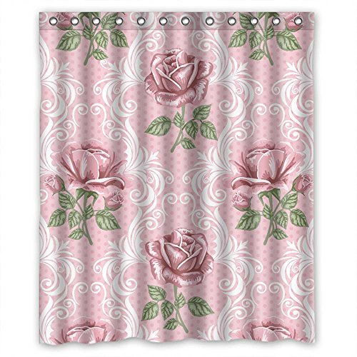 Monadicase Bath Curtains Of Flower Polyester Width X Height / 72 X 72 Inches / W H 180 By 180 Cm Best Fit For Teens Girls Kids Girl Family Teens. Durable. Fabric
