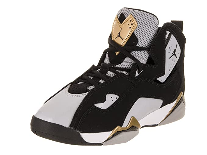 check out 30699 e81ba Amazon.com  Jordan Nike Kids True Flight BG Black Black Wolf Grey White Basketball  Shoe 6.5 Kids US  Clothing