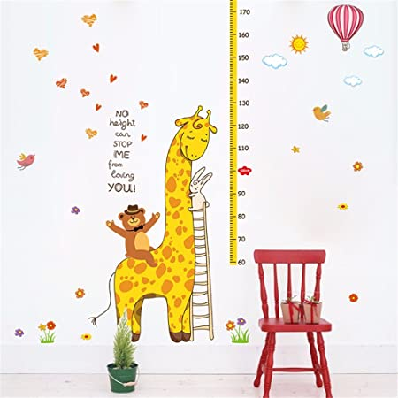 Xzpy129 The Cubs, Giraffes Height Posted Children\'S Room Wall ...
