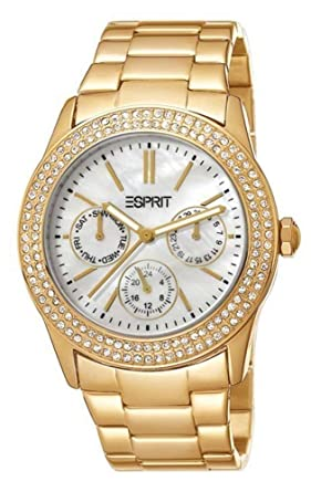 Gemeinsame Esprit Damen-Armbanduhr peony Analog Quarz ES103822012 Gold #EV_26