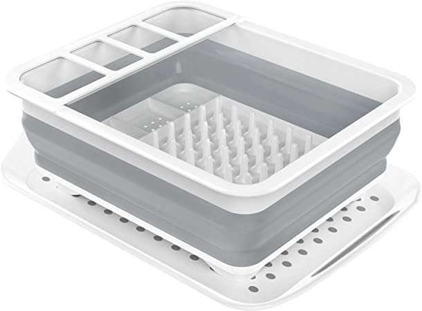 Kitchen Dish Drying Rack Drainer Dryer Tray Cutlery Holder Organizer Strainer UK