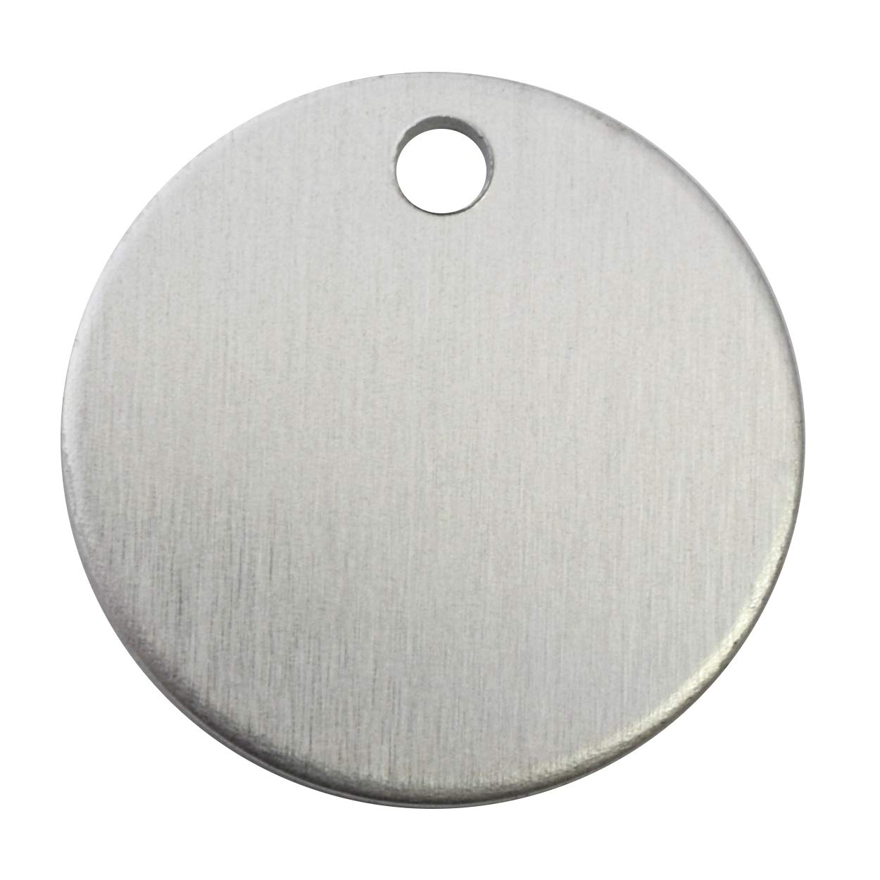 RMP Stamping Blanks, 1 Inch Round with Hole, Aluminum 0.063 Inch (14 Ga.) - 100 Pack by RMP