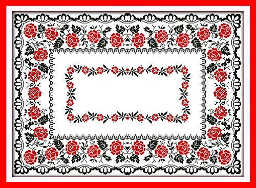 Stamped Cross Stitch Tablecloth - 5