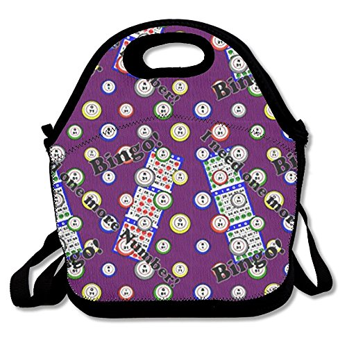 Bingo I Need One More Number Lunch Tote Bag Bags Awesome Lunch Handbag Lunchbox Box For School Work Outdoor by Huadduo