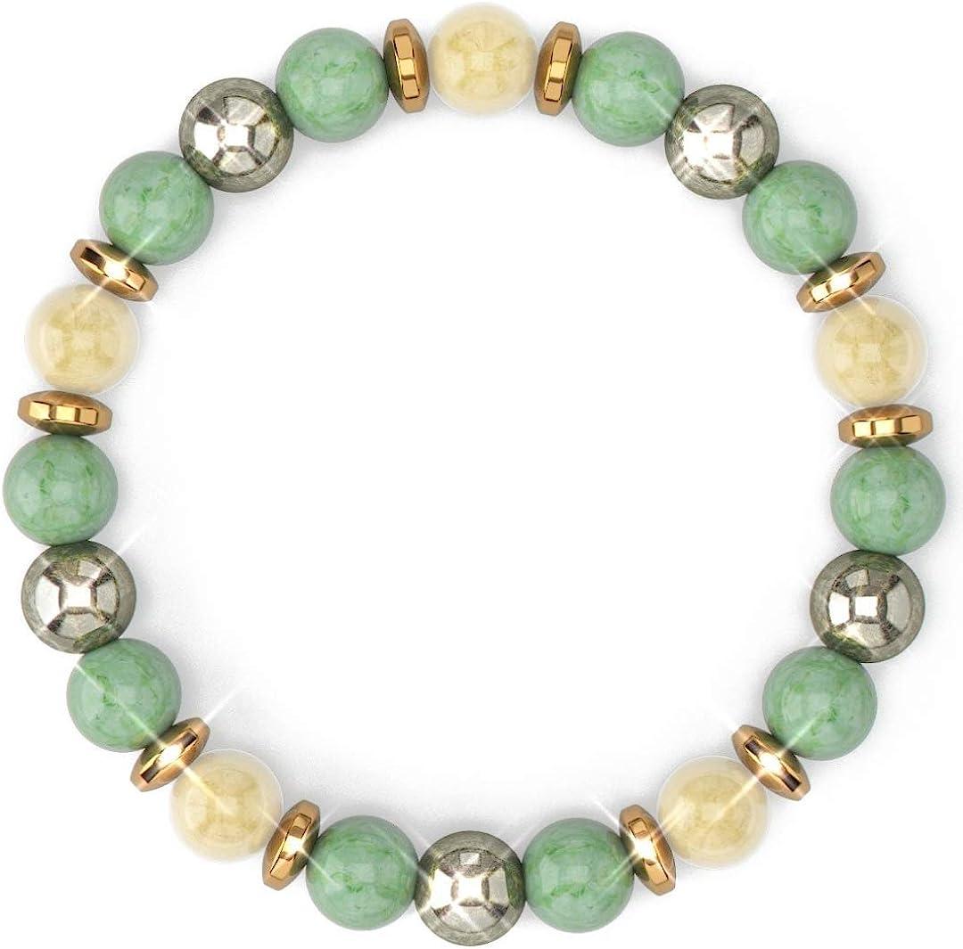 Amethyst gemstone chip braceletpositive energy braceletcrystal healing braceletprotection braceletspiritualstress relief bracelet