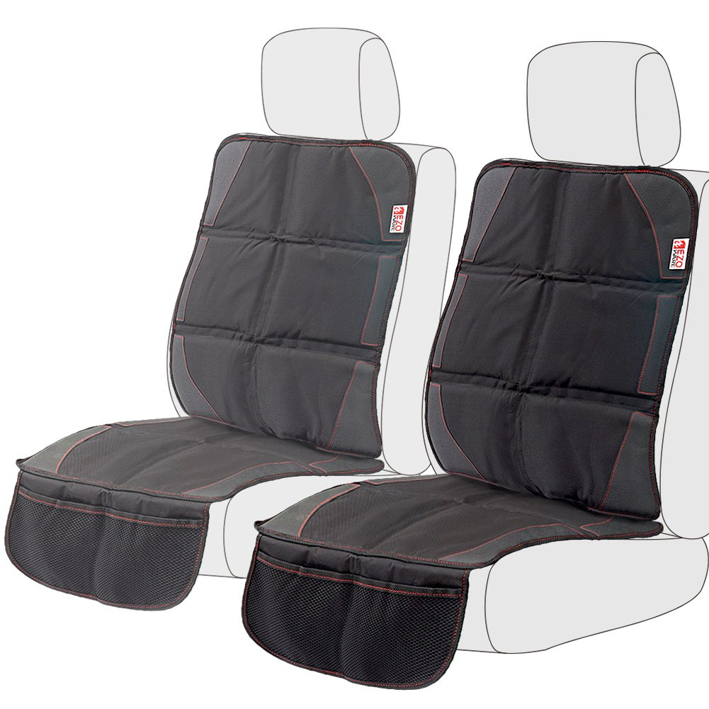 [2-Pack] EZOWare Car Seat/Booster Seat Protector Cover with Storage Organizer Pockets for Child, Infant and Baby, Fits Most Automobile, Sedan, Minivan, SUV, Truck, or Van