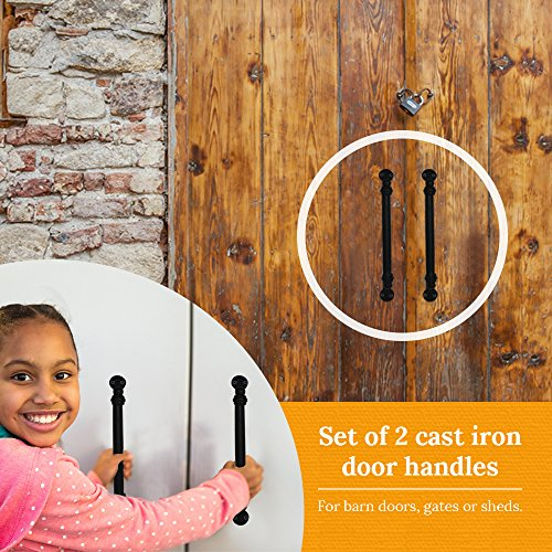 Rustic Exterior Barn Door Handle - Shed Door Handle - Gate Pull, Set of 2 by Park Hill Collections (Image #5)