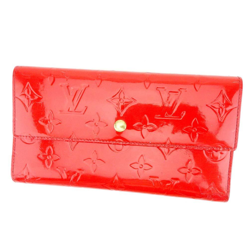 ルイ ヴィトン Louis Vuitton 長財布 三つ折り財布 メンズ可 ポルトトレゾールインターナショナル M91165 ヴェルニ 中古 T9161   B07Q73Y6P4