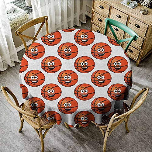 Round Tablecloth Outdoor red 35