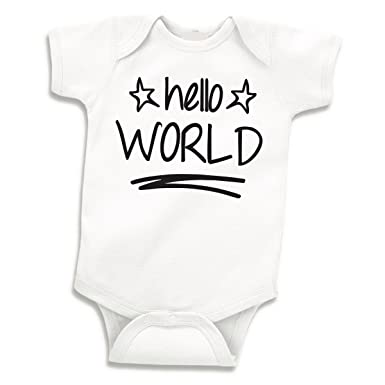 206ea59a3 Image Unavailable. Image not available for. Color: Hello World Newborn Boy  Coming Home Outfit ...