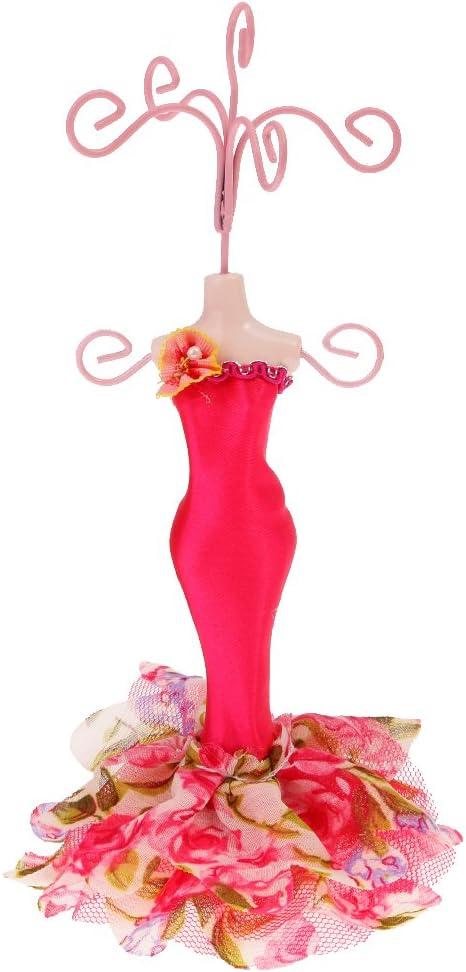 Robe de Mannequin daffichage Boucle doreille /à Talon Haut Collier Bague Support de Bijoux Affichage yuyte Support de Support 01