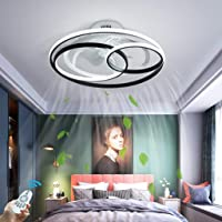 LED Dimbare Plafondlamp Met Ventilator Modern Creativiteit Dubbele Ring Fan Plafond Lamp Stil Ultra-Dun Regelbare…