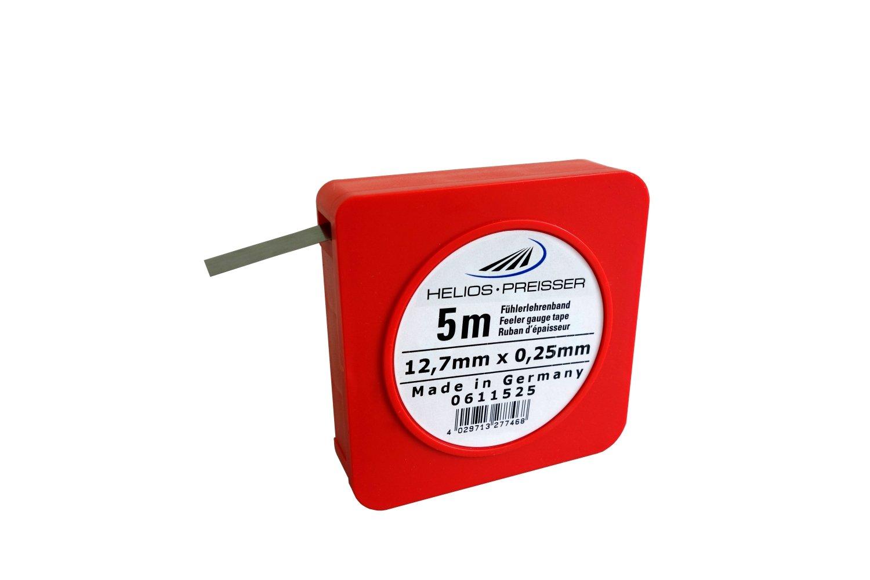 HELIOS-PREISSER 611525 Fü hlerlehrenband 5 m x 13 mm i.Plastikdose 0, 25 mm