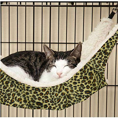 NACOCO Cat Hammock Ferret Rat Rabbit or Puppy Bed Pad Hanging Soft Pet Bed Use with Crate Cage or Chair, 3 Kinds of Design (Winter, Large)