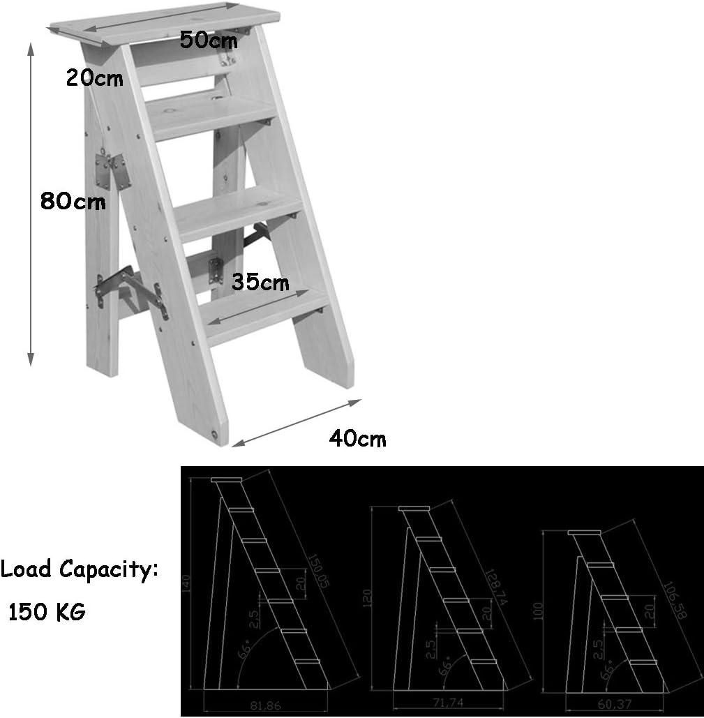 schwere Ausf/ührung DSJMUY Klappbare max 4 Stufen tragbare Trittleiter Gartenwerkzeug aus Kohlenstoffstahl 150kg H/öhe: 92cm Haushalts-Treppenleiter Holz-Trittleiter f/ür Kinder /& Erwachsene