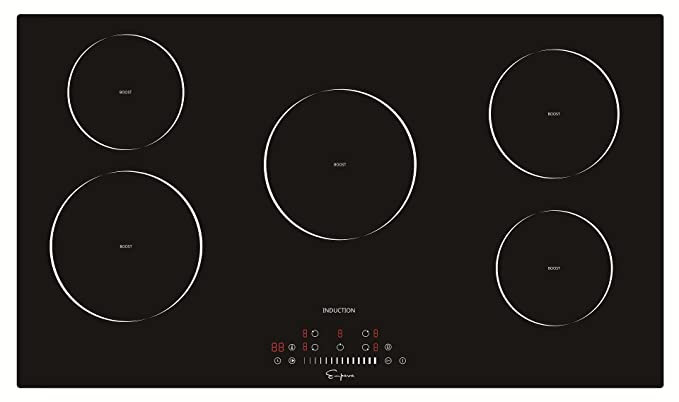 Empava 36u0026quot; Vitro Ceramic Glass Smooth Surface Electric Induction  Cooktop EMPV IDC36