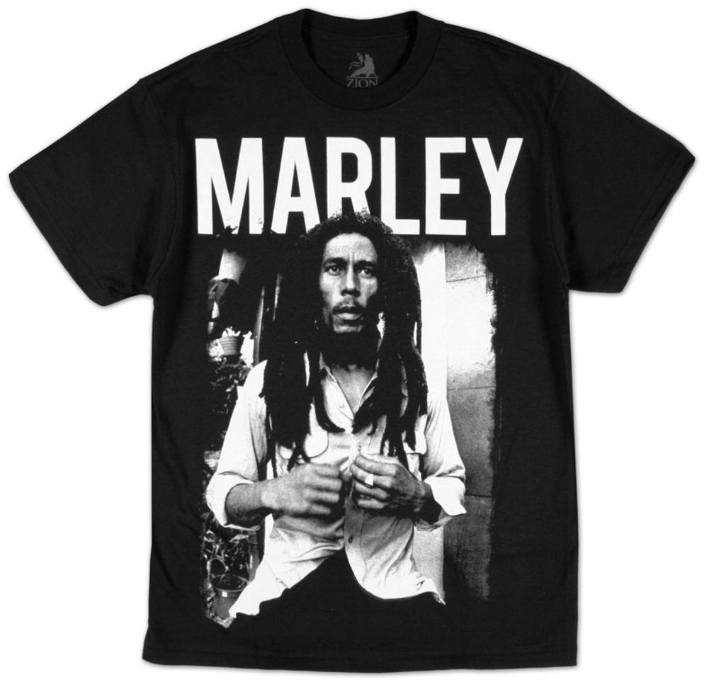 Top Selling For Fun Bob Marley Black T Shirt L