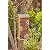 Evergreen Large Mason Tower Bee House, 15.5 inches
