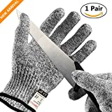 Cut Resistant Gloves, UROPHYLLA Safety Gloves Level 5 Protection Anti-Cutting gloves, Food Grade, Hand Protection Gloves for Kitchen Cutting, Slicing, Yard-work, Wood Carving and Grating(Large)