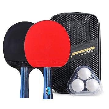Juego de Pádel de Tenis de Mesa, Raqueta y Pelotas de Ping Pong ...